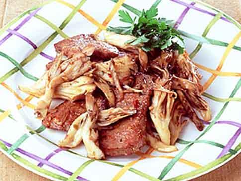 牛肉と舞茸のガーリックソテー