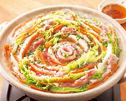 豚バラ肉と白菜の黒こしょう鍋