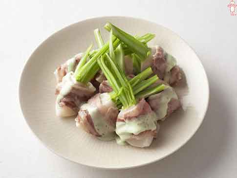 レンジでかんたん!かぶの豚肉巻きサラダ