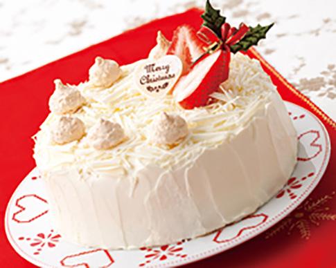 いちごのホワイトクリスマスケーキ