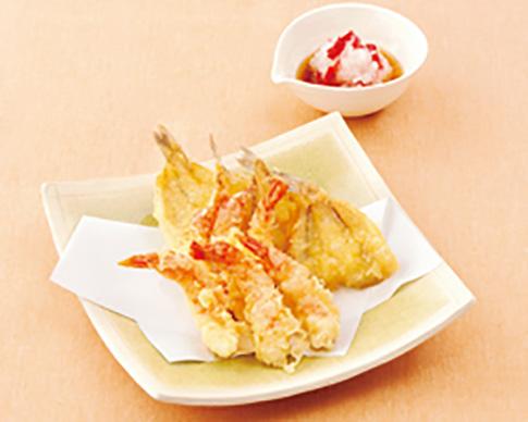 えびときすの天ぷら 梅おろし天つゆ
