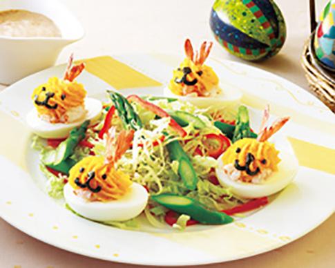 イースターうさぎのシュリンプエッグサラダ
