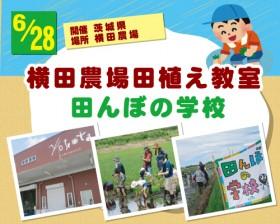 【食育】横田農場田植え