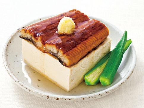 うなぎと豆腐のレンジ蒸し