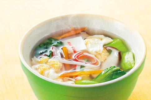 かにかま卵スープ
