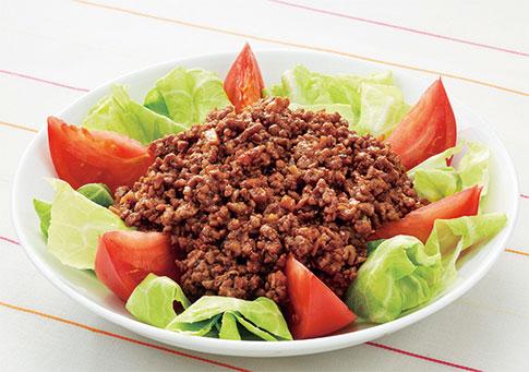 キャベツの肉味噌サラダ
