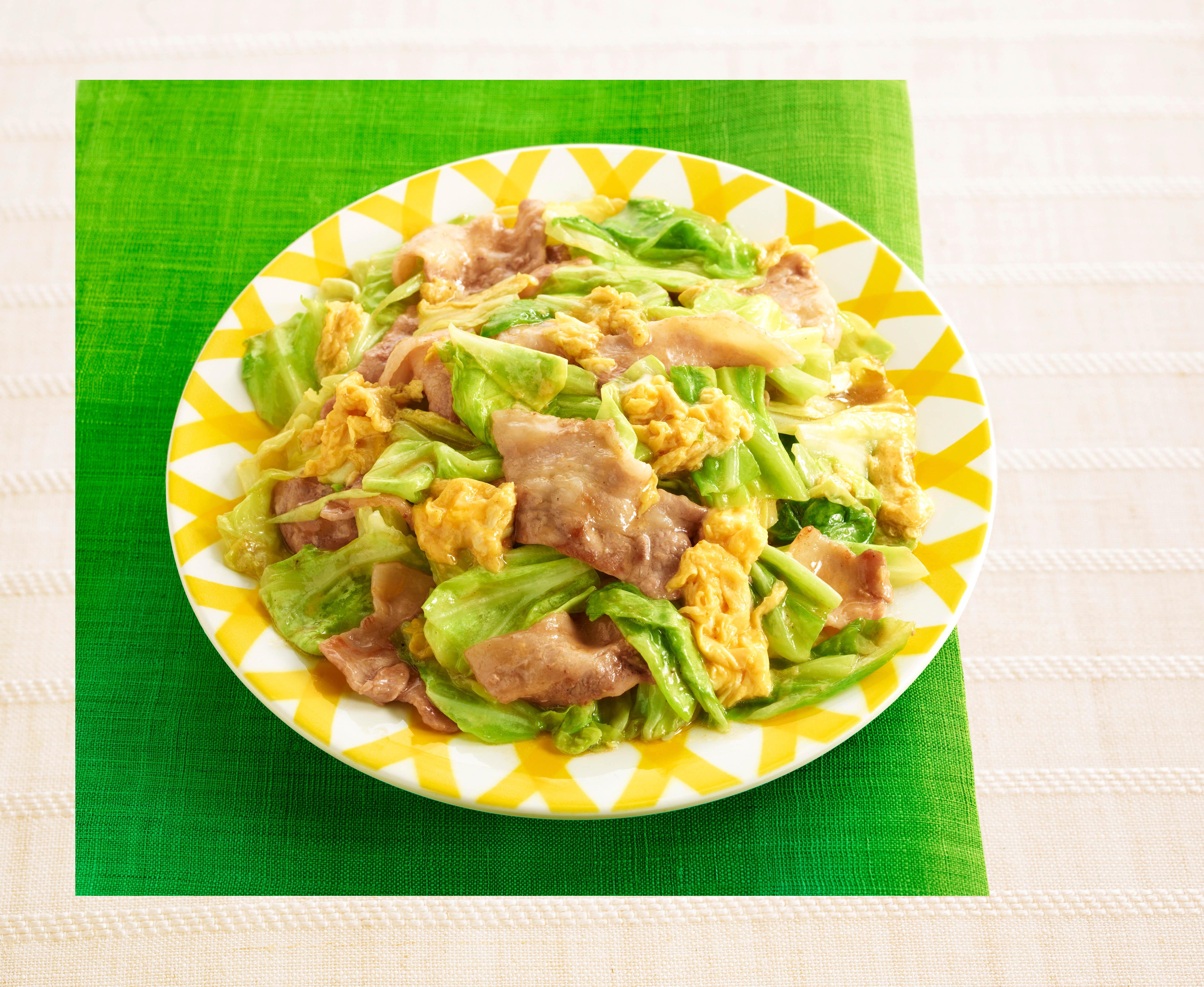 「CookDo®」きょうの大皿® とろ卵豚キャベツ