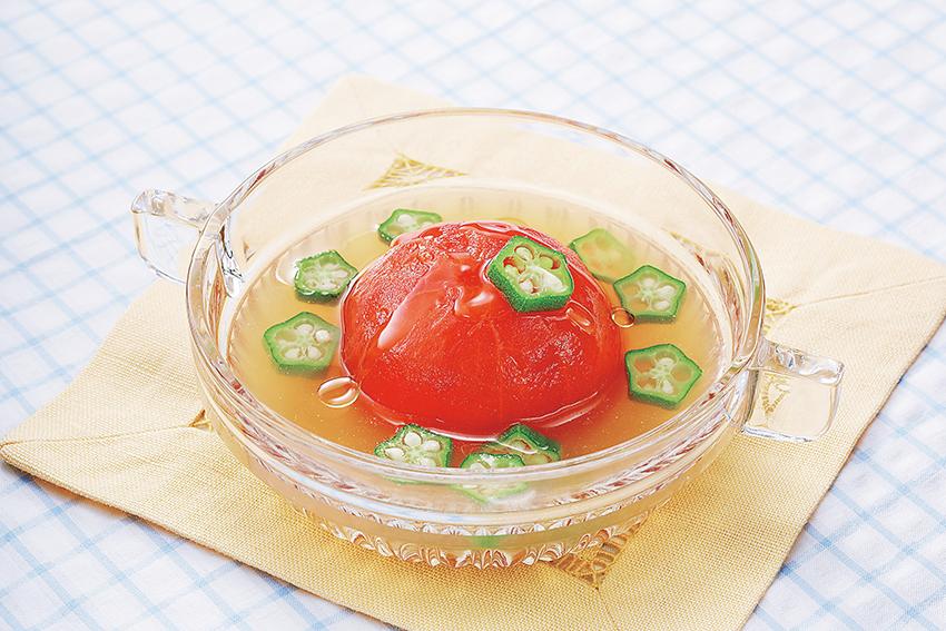 まるごとトマトの冷製スープ