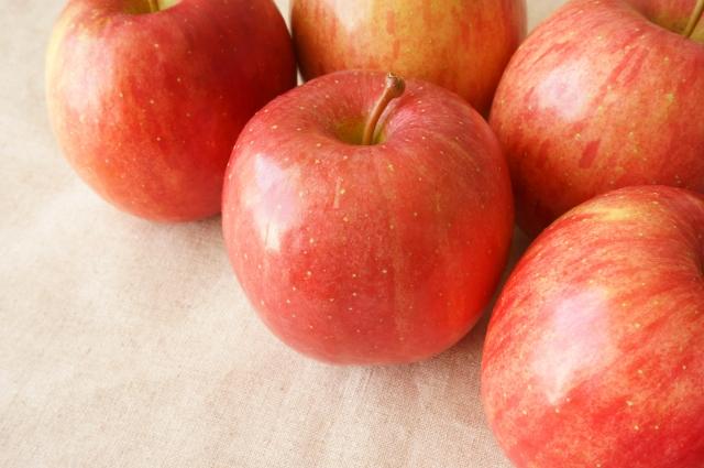 葉取らずサンふじりんご