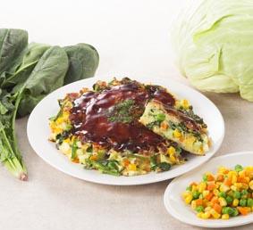1日に必要な2/3の野菜がとれちゃうお好み焼
