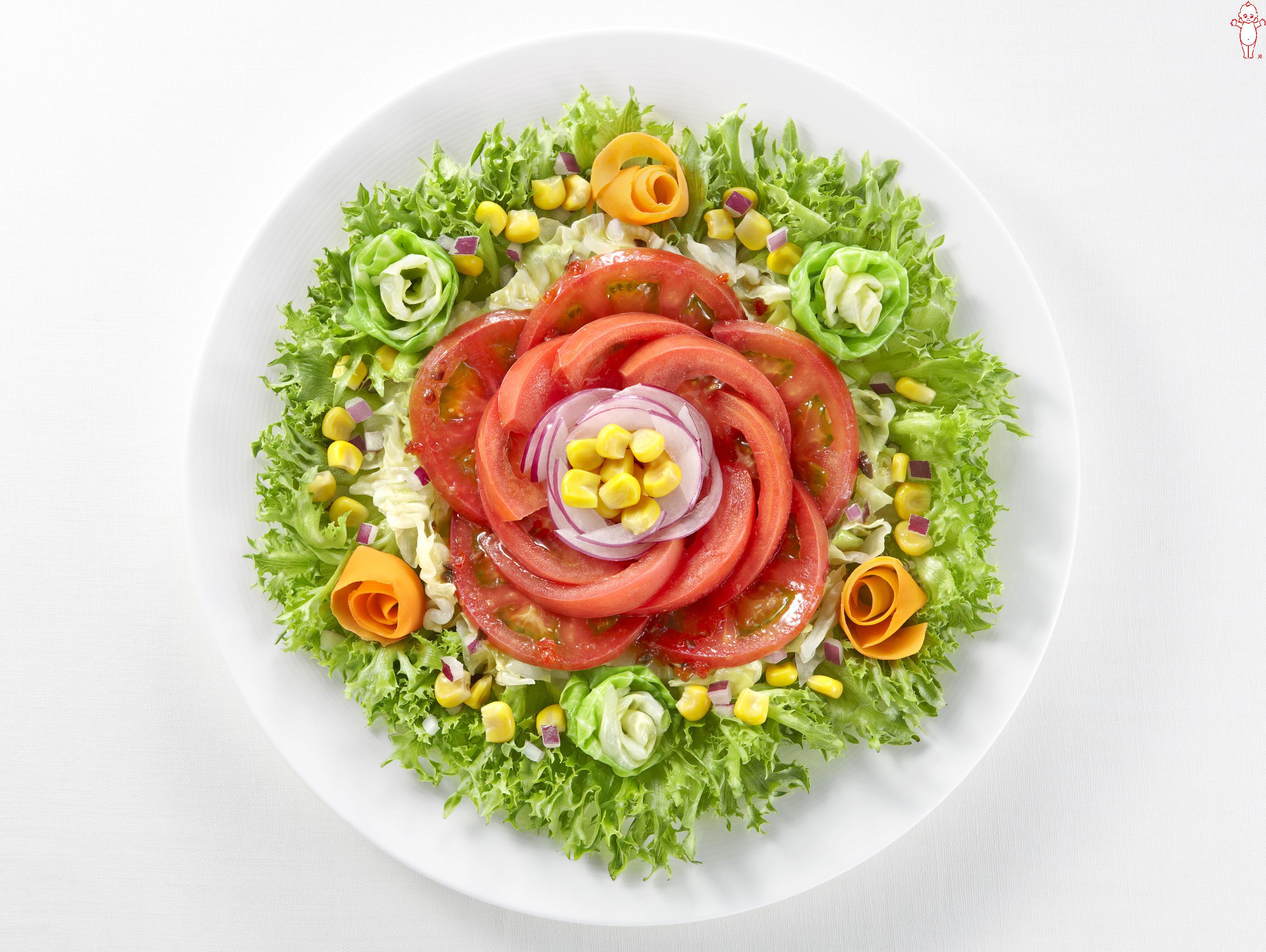 トマトとキャベツのフラワーサラダ