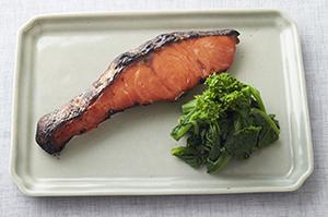 甘塩鮭のかす漬け焼き