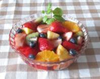 いちごのフルーツビネガーフルーツポンチ