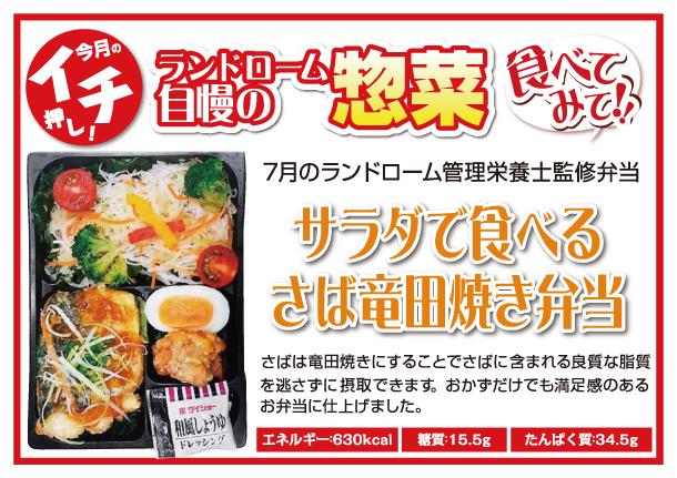 サラダで食べるさば竜田焼き弁当