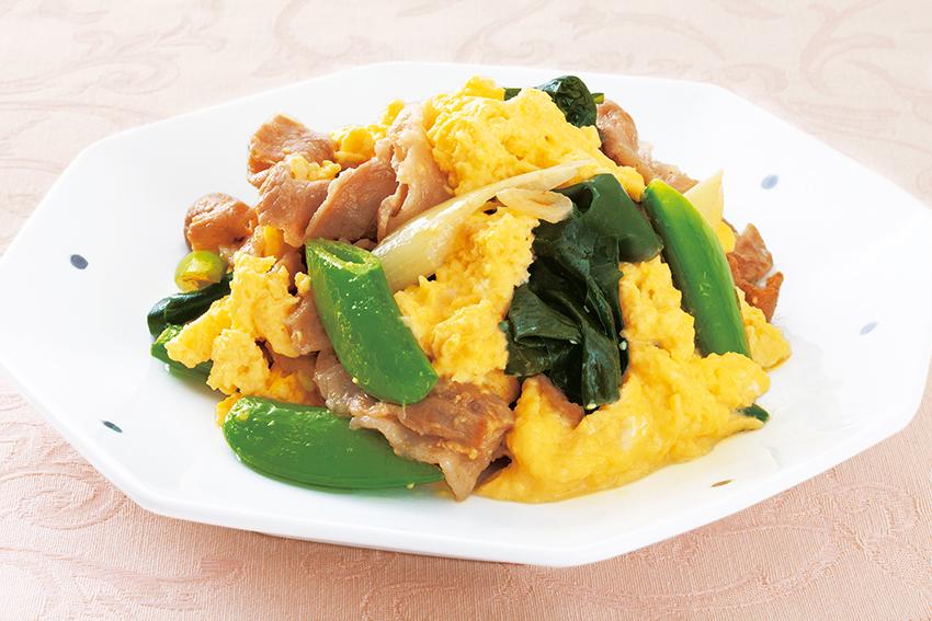 卵と豚肉のマヨ炒め