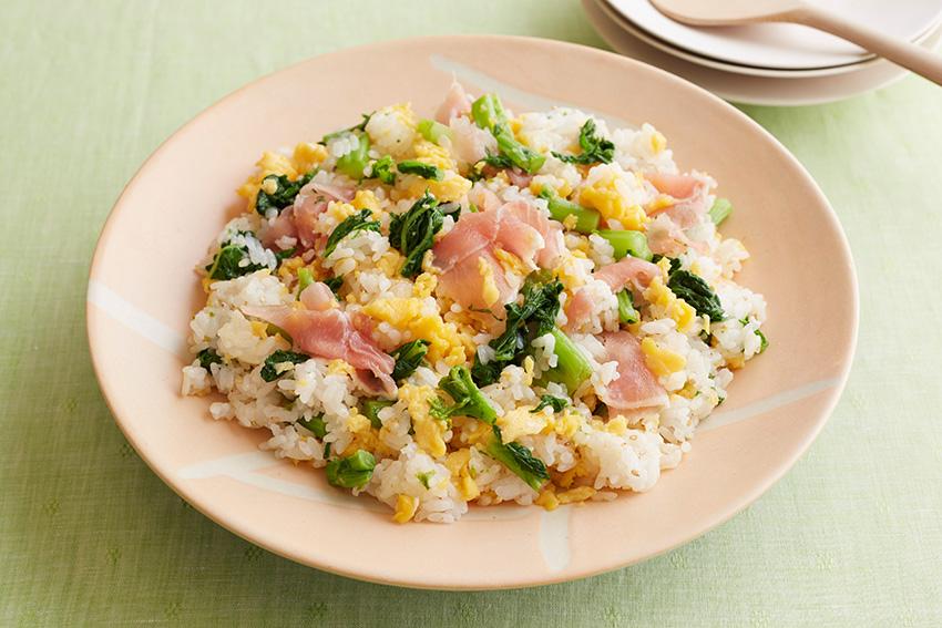 菜の花と生ハムの混ぜ寿司