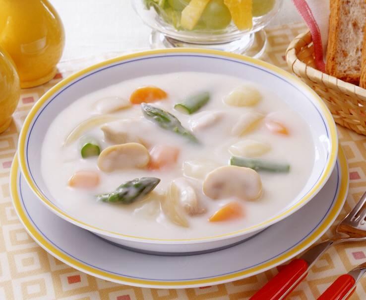 5種の野菜でおいしいシチュー(アスパラ)