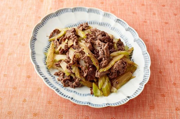 09_牛肉とセロリのレモン塩炒め