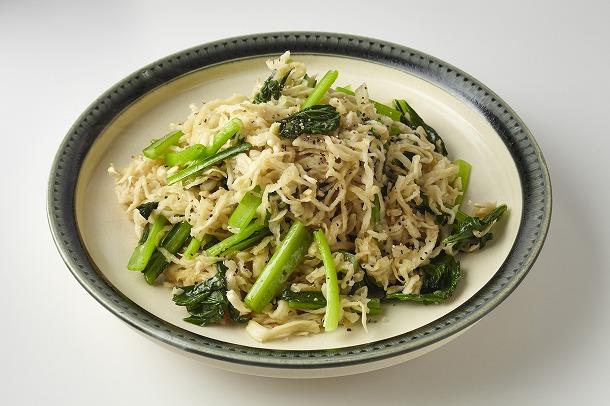 17_切り干し大根と小松菜のにんにくこしょう炒め