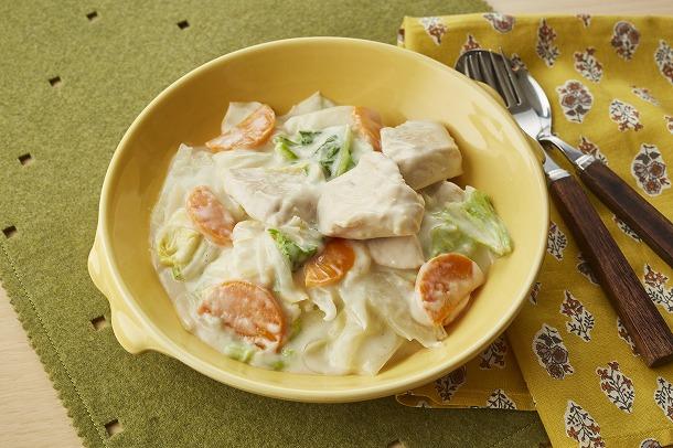 24_白菜と鶏肉のクリーム煮