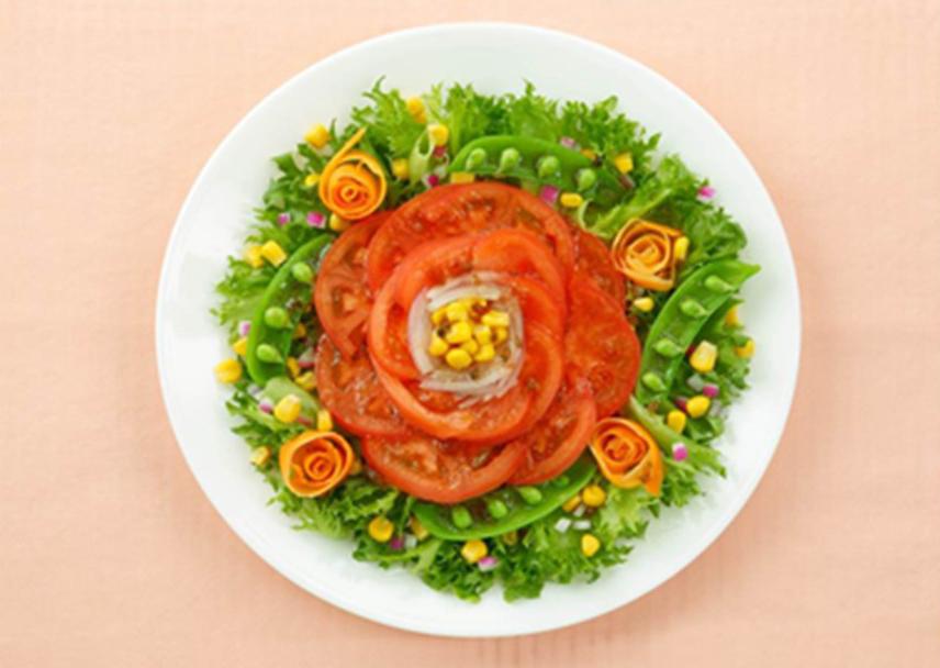 トマトフラワーサラダ