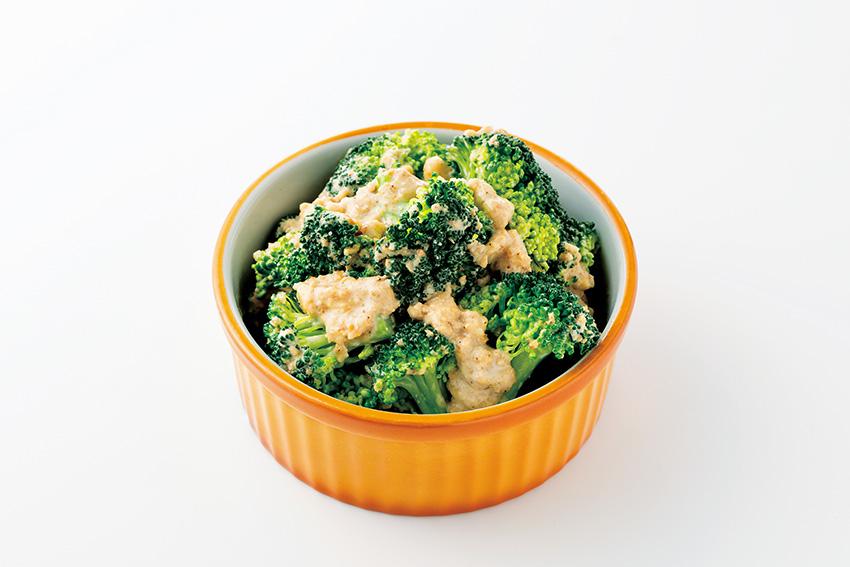 ブロッコリーのごま味噌サラダ